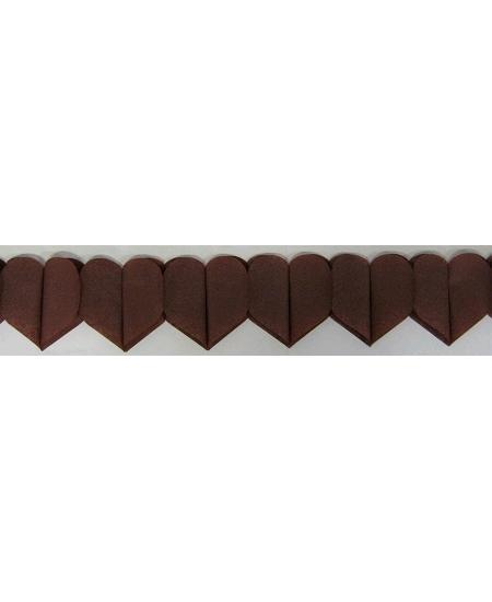 guirlande coeur 6M chocolat