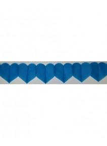 guirlande coeur 6M turquoise