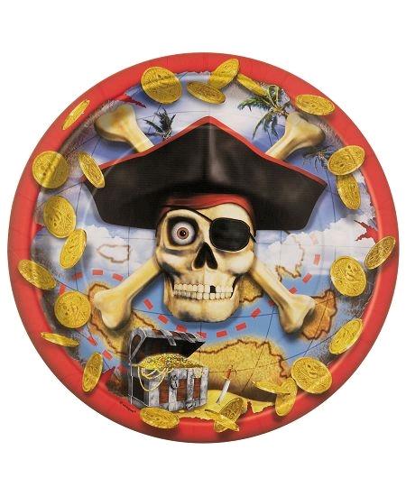 assiettesx8/d22.5cm pirate en carton