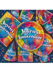 assiettesx8/D22.5cm joyeux anniversaire