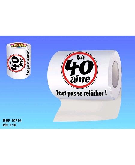 rouleau papier wc la 40aine