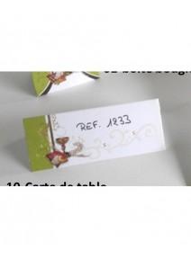 carte de tablex5 vert kiwi/blanc communi