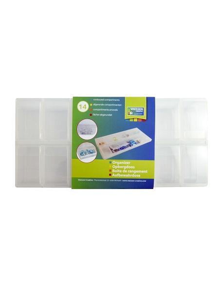 boîte de rangement 14 cases en plastique