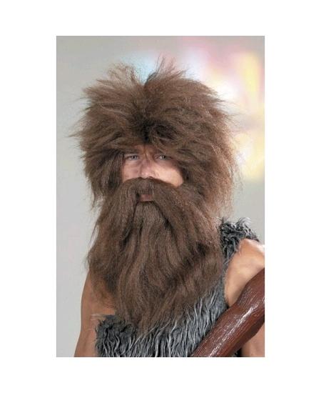 perruque + barbe homme des cavernes
