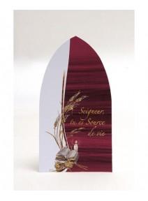 imagex5 communion bordeaux/blanc