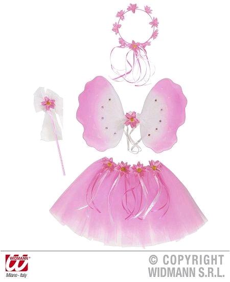 set de fée à fleurs rose : 4 articles