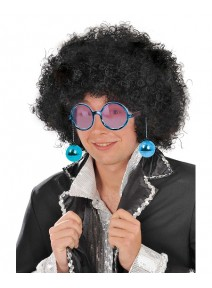 lunette boules disco bleu