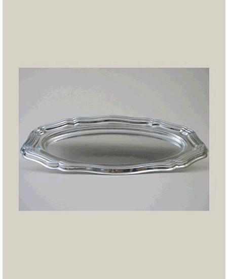 plat ovale 46x30cm argent