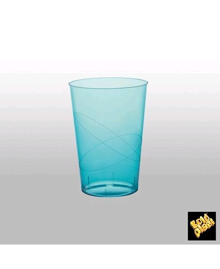 verresx10/20cl turquoise en cristal