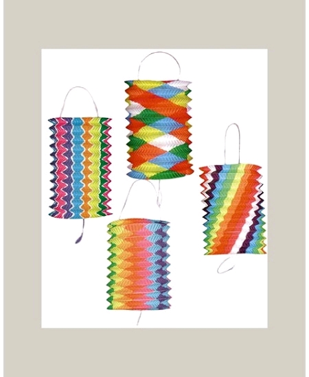 lampionsx12/16cm multicolore