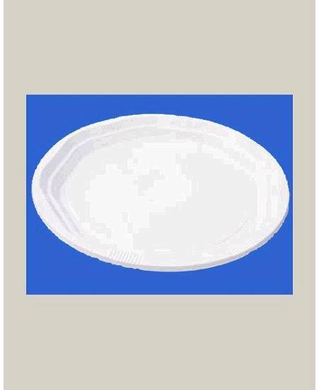 assiette blanchex50/d25cm plastique