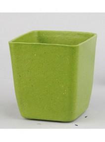 potsx3 carré bambou vert