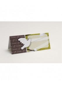 carte de table x5 colombe communion