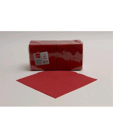 serviette bordeaux x50/25x25cm 2 plis