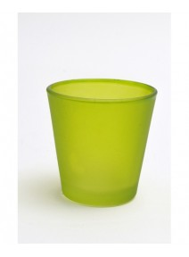 bougeoir verre vert anis