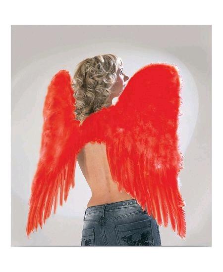 ailes d`ange plumes rouges H70cm