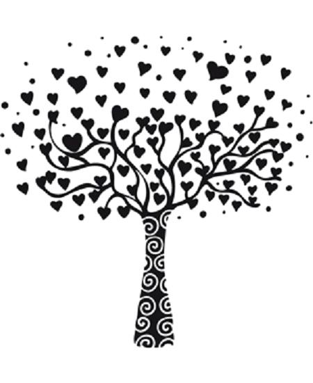 tampon arbre à coeurs (G)