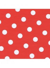 serviettesx20/3plis rouge à pois