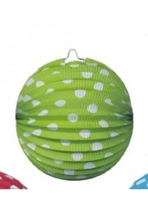 lampionsx4/D21cm boules fond vert pomme