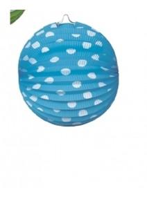 lampionsx4/D21cm boules fond turquoise