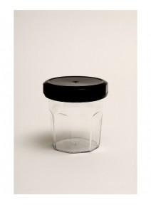 bocal cristal avec couvercle noir