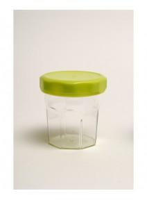 bocal cristal avec couvercle vert anis