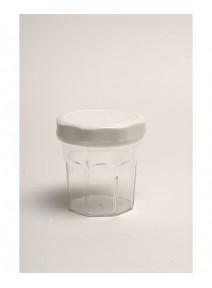 bocal cristal avec couvercle blanc