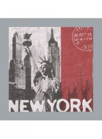 serviettesx20/3plis New York 33x33cm