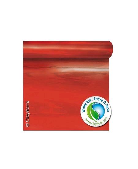 film métal 69cmx50mètres rouge