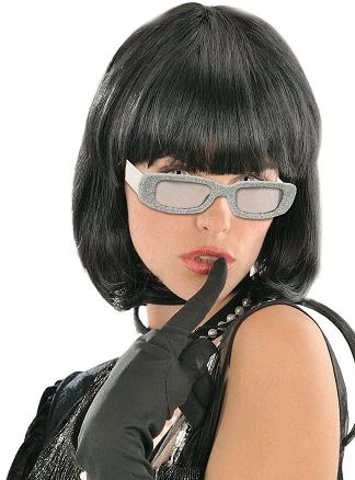 lunette star pailletée argent