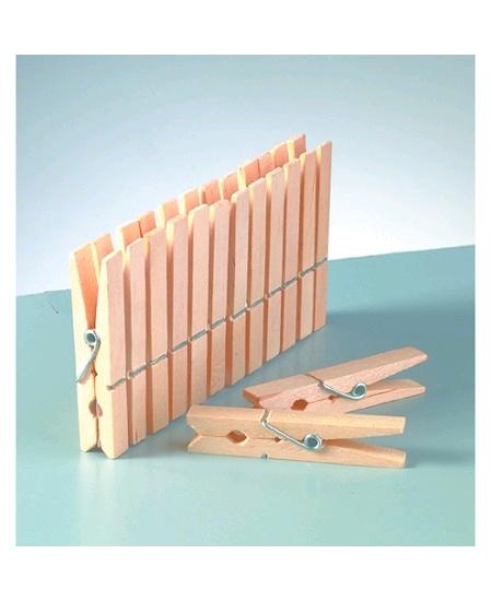 pinces à lingex24/45mm brut en bois