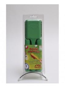 kit pour loto vert : boîte+pions+bâton