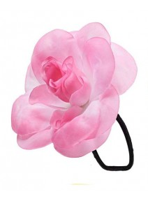 fleur cheveux rose/blanc