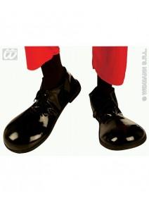 chaussures charlot noir en platique