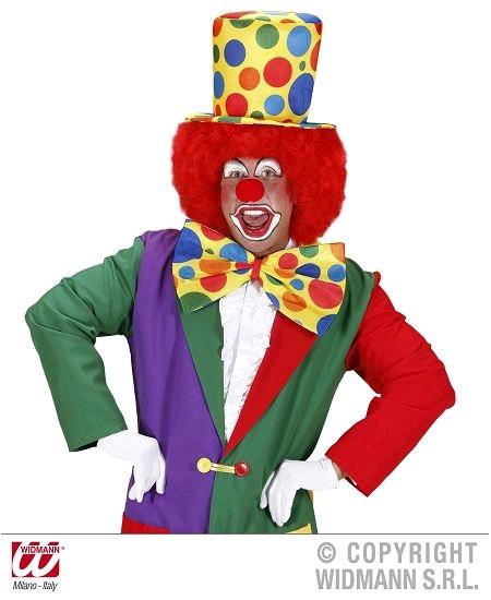 noeud clown fond jaune avec élastique