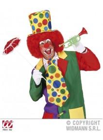 cravate clown GM fond jaune