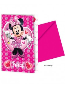cartes d`invitationx6 Minnie