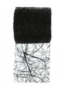 ruban abaca noir 5m/7cm