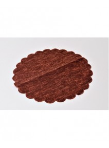 tulles chocolatx10/D24cm intissé