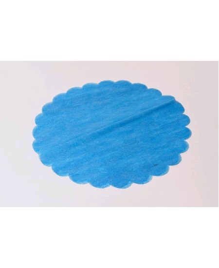 tulles turquoisex10/D24cm intissé