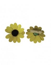 fleursx8 jaune sur pince bois