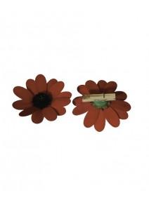 fleursx8 rouge sur pince bois