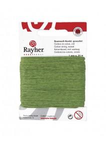 cordon en coton ciré 20M/1mm vert