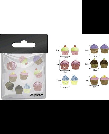 confettis de tablex24 cupcake en bois