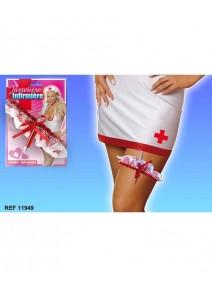 jarretière + seringue infirmière