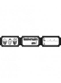 tampon anniversaire tickets (E)
