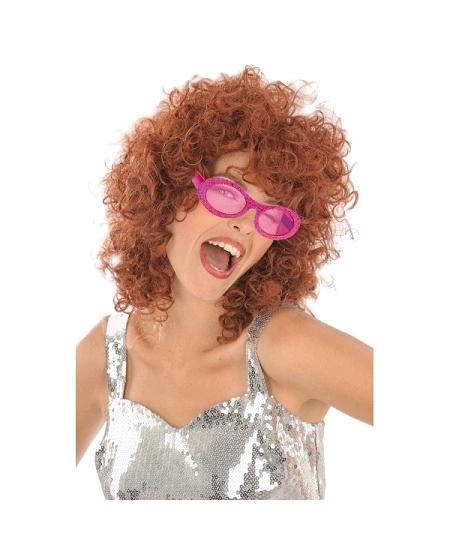 lunette disco pailletée fuchsia