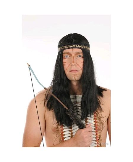 perruque indien noire avec bandeau