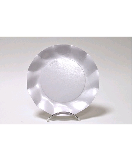 assiettesx10/D27cm blanc perlé