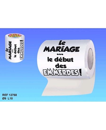 rouleau papier wc mariage